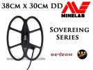 "Serch Coil S.E.F. 15""x12"" DD for Minelab Sovereing Series"
