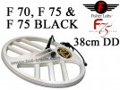 Search coil 38cm DD for metaldetector Fisher F70, 75 & F75 BLACK