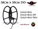 "Serch Coil S.E.F. 15""x12"" DD for metaldetector Fisher Gold Bug & Gold Bug Pro & Gold Bug DP"